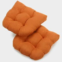 """19""""U-Shaped Micro Suede Tufted Dining Chair Cushion  - Tange"""