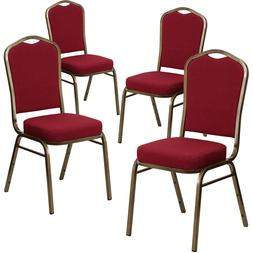 Crown Back Stacking Banquet Chair with 2.5'' Thick Seat Fram