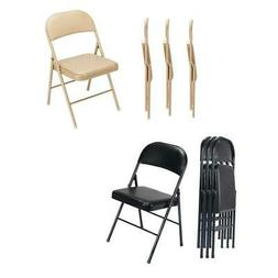 4/6 PACK Folding Chair Fabric Upholstered Padded Seat Metal