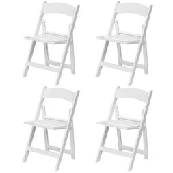 4 White Folding Resin Chair For Wedding Party School Office