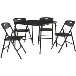 "Cosco 5-Piece Folding Table and Chair Set 33.82"" x 33.83"" x"