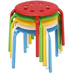 5pcs Plastic Stack Stools Chairs for Kids Student Classroom