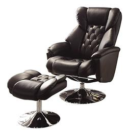 Homelegance 8548BLK-1 Swivel Reclining Chair with Ottoman, B