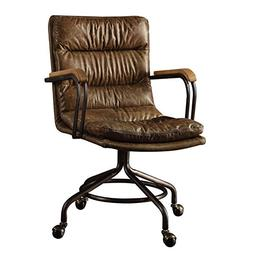 Acme Furniture 92416 Hedia Top Grain Leather Office Chair in
