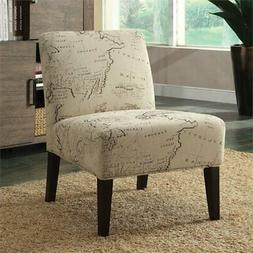 ACME Furniture 96229 Reece Accent Slipper Chair, Fabric & Es