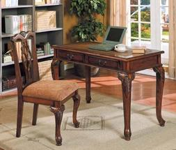 Acme Furniture 2pc Home Office Writing Desk & Side Chair Set