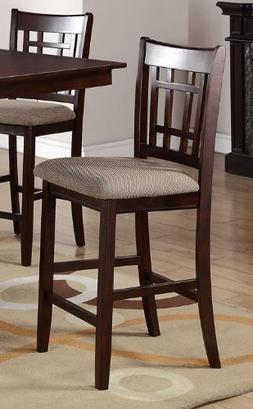 Poundex PDEX-F1205 High Chair with Upholstered Seat and Soli