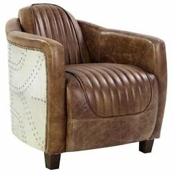 ACME Brancaster Chair in Retro Brown Top Grain Leather and A