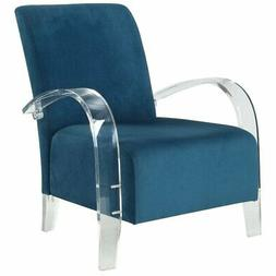 ACME Malyssa Accent Chair in Teal and Clear Acrylic