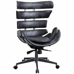 ACME Megan Executive Office Chair in Black Top Grain Leather