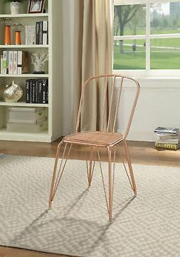 Acme Orania Set of 2 Side Chair in Glossy Rose Gold Finish 9
