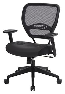 SPACE Seating Professional AirGrid Dark Back and Padded Blac