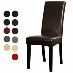 Artificial PU Fabric Leather  Dining Chair Covers for Home D