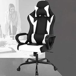 Racing Office Chair, High-Back PU Leather Gaming Chair Recli