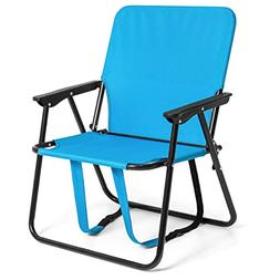 """BCP 12"""" Height Seat Backpack Folding Chair Outdoor Beach Cam"""