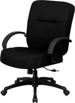 Big and Tall Black Fabric Office Desk Chair with Extra Wide