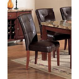 Acme Bologna Dining Chair in Brown Cherry