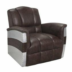 Brancaster Accent Chair in Retro Brown Top Grain Leather and