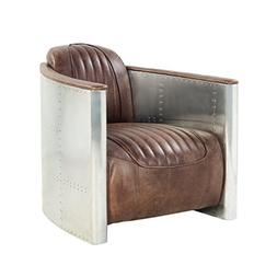 ACME Brancaster Retro Brown Top Grain Leather and Aluminum A