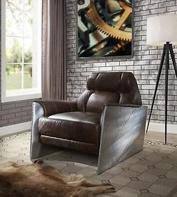 Acme Furniture Brancaster Top Grain Leather Accent Chair