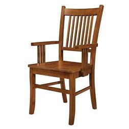 Marbrisa Slat Back Arm Dining Chairs in Sienna Brown - Set o