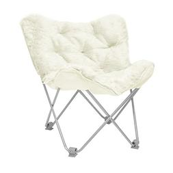 Urban Shop Butterfly Chair Not Applicable, Adult, Ivory