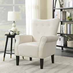 Button Back Armchair Accent High Back Living Room Bedroom Up