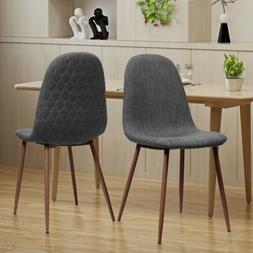 Camden Mid Century Fabric Dining Chairs with Wood Finished L