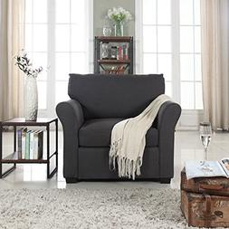 Classic and Traditional Linen Fabric Accent Chair - Living R