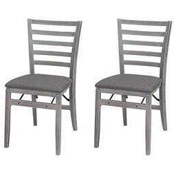 2-pack Classic Wood Frame with Rustic Gray Finish Wood Foldi