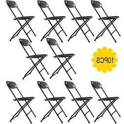 JAXPETY Commercial Plastic Folding Chairs Stackable Wedding
