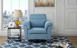 Contemporary Living Room/Family Room Fabric Armchair, Accent