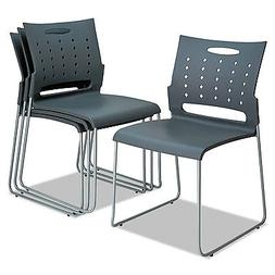 continental series perforated back stacking chairs charcoal