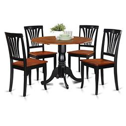 East West Furniture DLAV5-BCH-W 5-Piece Kitchen Table and Ch
