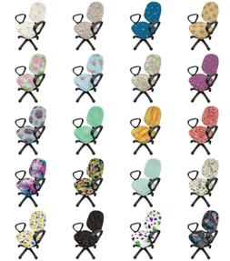 Ambesonne Doodle Floral Office Chair Slipcover Protective St