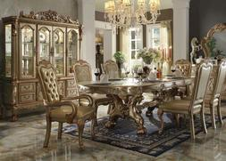 Acme Furniture Dresden Gold 7 Piece Dining Room Set
