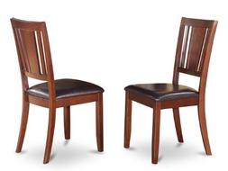 Dudley Dining Chair with Faux Leather upholstered Seat in Ma