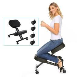 Ergonomic Kneeling Chair Adjustable Stool For Home Office wi