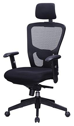 OFFICE FACTOR Black Mesh High Back Executive Office Chair, A