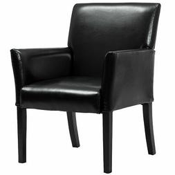 Executive PU Leather Guest Chair Reception Side Arm Chair Up