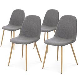 Best Choice Products Set of 4 Fabric Eames Style Dining Side