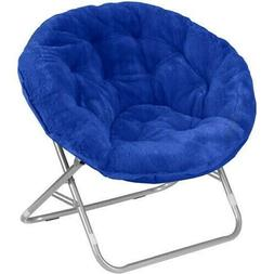 Urban Shop Faux Fur Saucer Chair with Metal Frame, One Size,