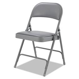 ALERA FC96G Steel Folding Chair With Padded Back/Seat, Light