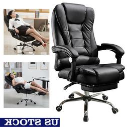Fine Office Desk Leather Chair Adjust Seat Height For Work H