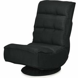 floor gaming chair fabric 5 position folding