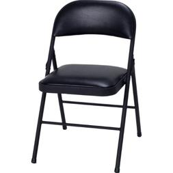Set of 4 Folding Chairs with Vinyl Padded Seat  By Cosco