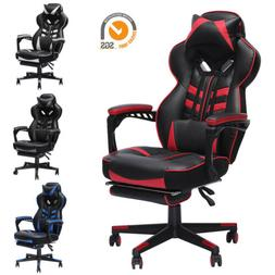 GAMING CHAIR RACING COMPUTER LEATHER HIGH BACK RECLINER OFFI