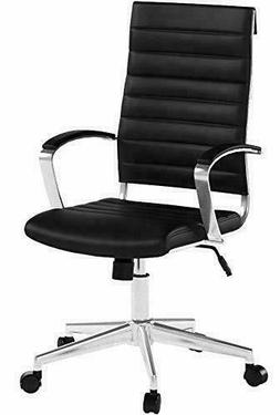 High-Back Executive Swivel Office Desk Chair, Ribbed Puresof