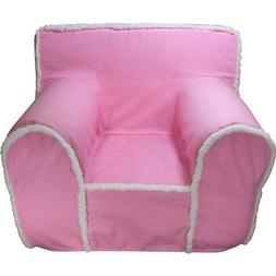 INSERT FOR ANYWHERE CHAIR WITH PINK WITH SHERPA TRIM COVER R