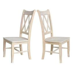 International Concepts Double X-back Chair, Pair